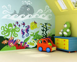 Colorful Underwater Sea Murals Room Concept Picture Shore House - Kids rooms murals