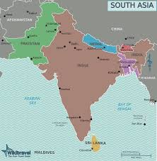 New Delhi India Map by Southern Asia Political Map Full Size