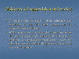 s15 supervision and review objective of supervision and review