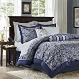 Tradewinds 7 Piece Comforter Set Amazon Com Madison Park 7 Piece Comforter Set King Red Home