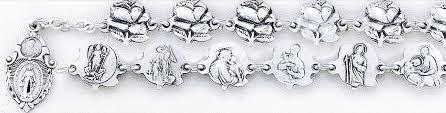 sterling silver rose bracelet images Hmh religious catholic sterling silver rose bud saint bracelet gif
