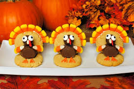 turkey pumpkins thanksgiving turkey shaped cookies with autumn leaves and pumpkins