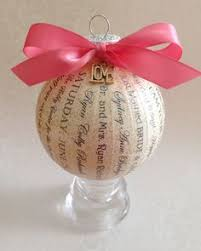 Personalized Ornaments Wedding First Anniversary Gift For Her For Couple Personalized