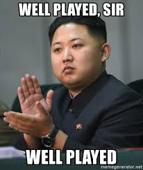 well played sir well played kim jong un clapping meme generator