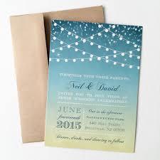 sunset wedding invitation printed starry night string lights