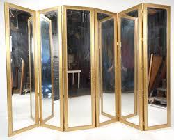 Wicker Room Divider Mirrored Room Dividers Three Panel Hollywood Regency Style Mirror