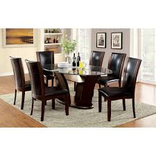 glass dining room sets glasstop kitchen dining table sets hayneedle