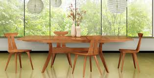 Solid Cherry Dining Room Furniture by Copeland U0027s Audrey Modern Dining Set Now Available In Cherry Wood