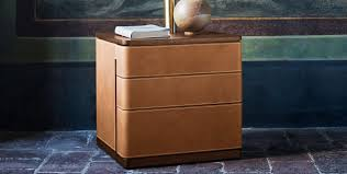 contemporary bedside table walnut plywood maple fidelio