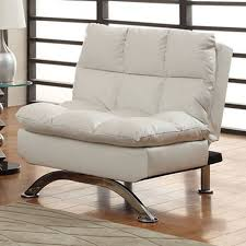 shop furniture of america aristo white faux leather futon at lowes com