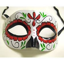 Day Of The Dead Mask Buy Day Of The Dead Half Mask With Red Cappel U0027s