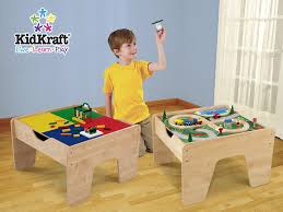 Kids Table With Storage by Amazon Com Kidkraft Lego Compatible 2 In 1 Activity Table Toys
