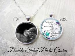 personalized remembrance jewelry miscarriage keepsake jewelry ultrasound memorial necklace