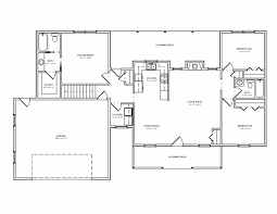 ranch style floor plans open ranch style house plans with basement fresh open floor lovely plan