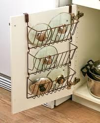 kitchen cabinet door organizer cabinet lid organizer pots containers storage over door space