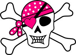 pink pirate cross bones clip at clker com vector clip