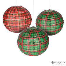 plaid christmas plaid christmas hanging paper lanterns