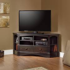 Corner Tv Cabinets For Flat Screens With Doors by Bush Visions Black Tall Corner Tv Stand For Tvs Up To Hooker