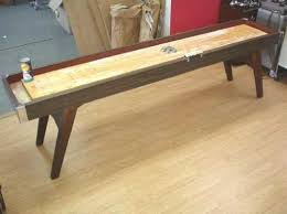antique shuffleboard table for sale vintage american shuffleboard game table 9 7 pucks