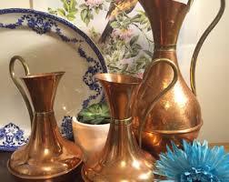 Metal Jug Vase Metal Water Pitcher Etsy