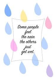 free printable quote wall art about rain ausdruckbares