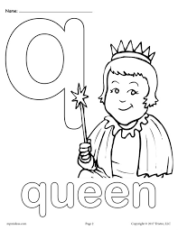 Letter Q Alphabet Coloring Pages 3 Free Printable Versions Coloring Pages Q