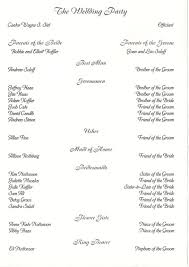 Wedding Programs Sample Wedding Collection Nowadays Wedding Programs Examples Wedding