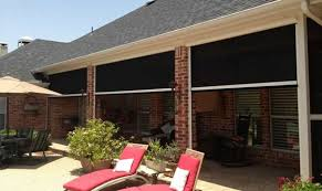 Electric Awning For House Electric Retractable Solar Screens For Houston Covered Decks