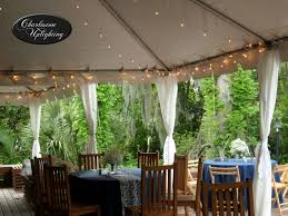 String Lights Outdoor Wedding by Outdoor Tent String Cafe Lighting At Magnolia Plantation