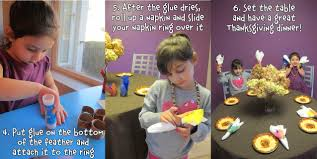 kids thanksgiving crafts how to make native american napkin rings