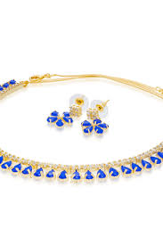 necklace blue stone images Blue stone necklace set buy blue stone necklace set online jpg