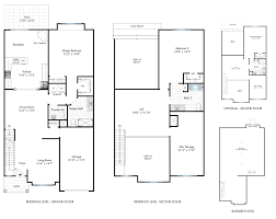 Townhome Floor Plan by Provence Townhomes Residences Vineyards At Blue Point