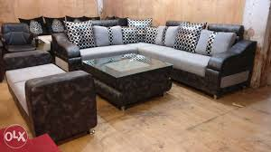 FABBULLS L Shape Sofa Set With Designer Center Table Delhi - Designer center table