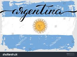 argentina flag grunge painted handwriting vector stock vector