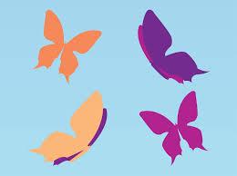 simple butterflies vector graphics freevector com