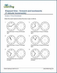 grade 3 telling time worksheets free u0026 printable k5 learning