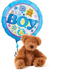teddy in a balloon gift it s a boy and balloon at from you flowers