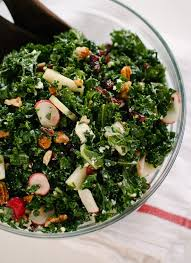 deb s kale salad with apple and pecans cookie and kate