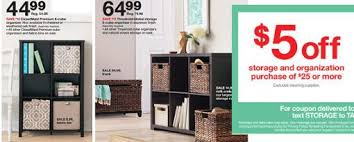 target black friday threshhold new storage u0026 organization target cartwheel offers 5 off 25