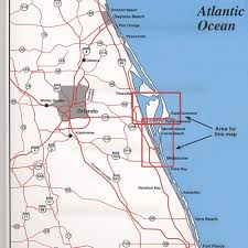port canaveral map spot fishing map n218 cape canaveral area