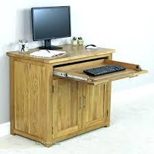 Hide Away Computer Desk Small Oak Hideaway Computer Desk Desk Ideas