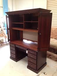 Custom Made Reception Desk Desks Enchanting Custom Made Walnut Parsons Style Desk With