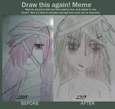 I Lied Meme Face - draw this again meme with lucy from elfen lied by xrainbowfantasy