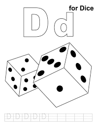 d for dice printable alphabet coloring pages alphabet coloring
