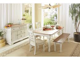 Cottage Dining Room Sets Cresent Fine Furniture Cottage Rectangle Farmhouse Table In Two