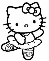 kitty coloring pages ballerina cartoon coloring pages