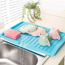 kitchen sink drainer tray kitchen plastic dish drainer tray large sink drying rack worktop