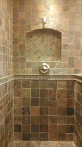 Slate Tile Bathroom Shower Fascinating Slate Tile Bathroom Designs Ideas Pictures Small