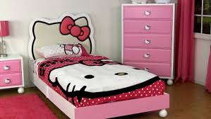 bedroom cute girls bedroom design with hello kitty theme using