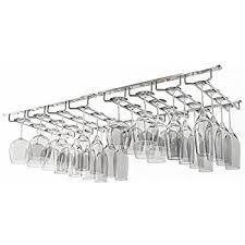 amazon com wallniture under cabinet stemware glass rack hanger